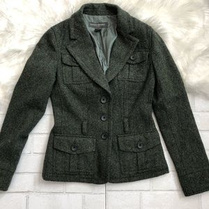 Banana Republic Tweed Military Blazer EUC
